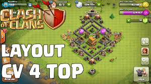 Clash Of Clans Layout Cv 4 Muito Top Youtube