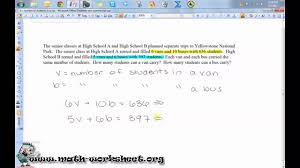 systems of linear inequalities word problems harder example
