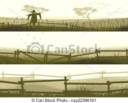 farm fence drawing. Banner Farm Fields With Fence. - Csp22396161 Fence Drawing T