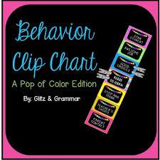 Behavior Clip Chart A Pop Of Color