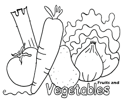Fruits And Vegetables Coloring Pages Pdf Coloring Sheets Detail