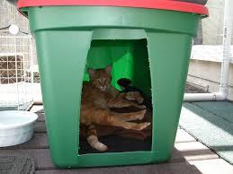 outdoor heated cat house diy ideas
