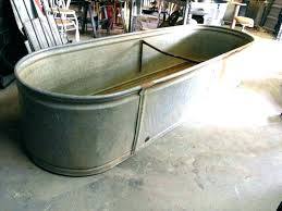 bathtub galvanized steel tubing full size of metal tubs home depot large tub flower bed garden decor outdoor