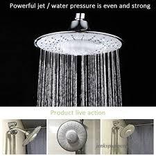 morpilot shower head polished chrome top spray rain shower head with waterproof jet wireless bluetooth