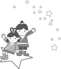 七夕のイラスト織姫と彦星無料フリー素材
