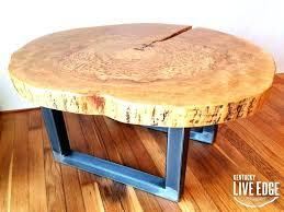 tree coffee table book wood log slice tables elegant round live edge industrial