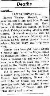 James Wesley Howell - Death - Newspapers.com