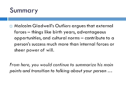 creative leads thesis statements ppt video online 7 summary malcolm gladwell s outliers