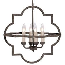 athena french country quatrefoil dark rusted iron chandelier kathy kuo home