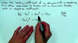factoring a negative leading coefficient