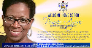 """Sigma Gamma Rho on Twitter: """"Soror Pennie Ayers, we are glad to have you  back. """"…I knew that Eta Sigma was the place for me."""" #SGRho #SigmaGammaRho  #WelcomeHome… https://t.co/NEFkppdrzl"""""""