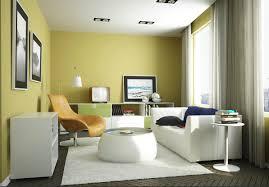 Interior Yellow Green Living Room Interior Design Ideas Colours