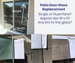 cost to replace glass in sliding patio and french door inserts