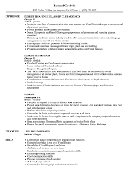 Floral Designer Job Description Florist Resume Samples Velvet Jobs
