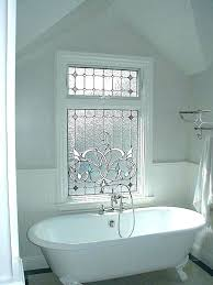 bathroom privacy window stained glass