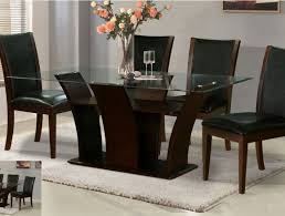 dining lovable 6 seater glass top dining table set