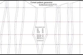 Corset Pattern Free Enchanting The Corset Pattern Generator 48 Steps