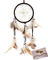 Dream Catcher History Amazing Amazon BSLINO Dream Catchers Brown Handmade Feather Native
