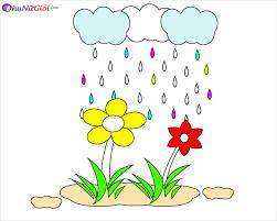Tranh tô màu trời mưa đẹp nhất cho bé tập tô