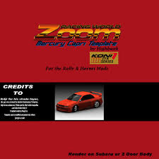 Rally Templates Mercury Capri Templates Hornet Rally Mods Stunod Racing