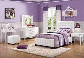 bedroom white tufted leather girls bedroom sets with purple bedroom wall color girls white
