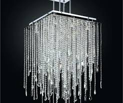 crystal drop chandelier square pendant lighting glass black