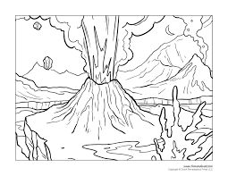 More 100 coloring pages from nature coloring pages category. Volcano Erupting Coloring Page Page 1 Line 17qq Com