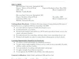 School Social Worker Resume Fascinating Social Worker Resume Simple Template Format Resume
