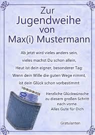 Jugendweihe Urkunde Zur Jugendweihe Geschenk Glückwunsch Karte