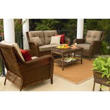 ty pennington style mayfield 4 pc deep seating set from deep seating patio furniture sets