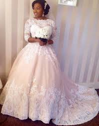 Vestidos De Novia Lace Wedding Dresses Plus Size Half Sleeves Ball