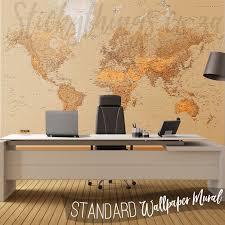 The World Wall Mural World Map Art Mural