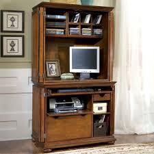 compact office. Home Styles Homestead Compact Office Cabinet \u0026 Hutch - Computer Armoires At Hayneedle C