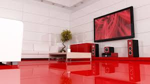 Tile For Living Rooms Glossy Elegant Red Tiles Living Room With White Sofa And White