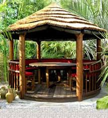 garden hut. Outdoor Living - Miami Tropical Garden Beach Hut Pinterest