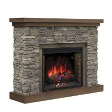 chimney free 54 in w 5200 btu cappuccino brown ash wood with chimney free fireplace