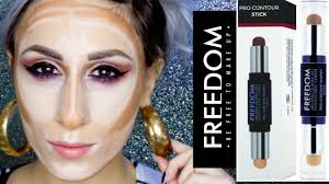 freedom 5 pro contour shaped stick um 02 review swatches demo dyna you