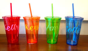 Decorating Plastic Tumblers Custom Drink Tumblers The Perfect Diy Party Favors For Summer
