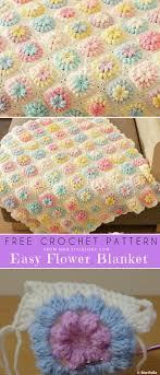 Free Crochet Designs For Beginners Flower Blanket For Beginner Free Crochet Pattern Crochet