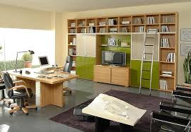 home office workspace wooden furniture. Home Office:Home Office Space Design For Enlarge Your Work Productivity Grey Floor Brown Wall Workspace Wooden Furniture O