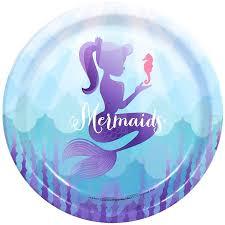 Mermaids Under the Sea Dinner Plates, 8pk - Walmart.com