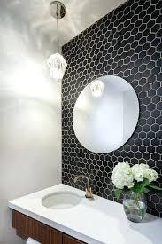 hexagonal tiles bathroom small black hex tiles on the bathroom wall with white grout hexagonal tile hexagonal tiles bathroom