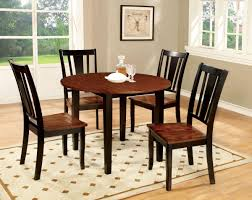 Drop Leaf Round Dining Table Furniture Of America Cm3326bc Rt Cm3326bc Sc Dover 5 Pieces