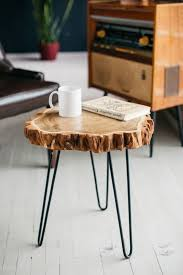 wood slab table coffee table wood
