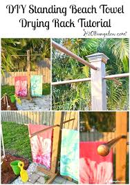 pool towel racks tutorial to make a outdoor standing towel rack with 3 options for all pool towel racks