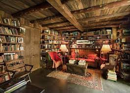 rustic office. Rustic Home Office With Hooker Furniture Abacca Coffee Table Sliding Top Custom Upholstered Erin