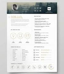 Free Cool Resume Templates Simple Unique Resume Templates 40 Downloadable Templates To Use Now