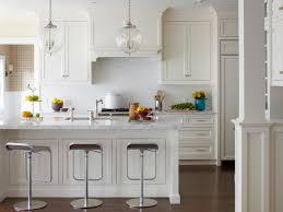 White Kitchen Backsplash Cool White Kitchen With Subway Tile Backsplash Design 1182