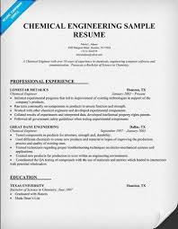 Chemical Engineering Resume Http Jobresumesample Com 2041