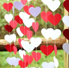 Valentine decorations for office Table Wedding Decoration Red White Heart Garland Valentines Day Decor Paper Ideas For Office Valentines Day Decor Wallacemusicinfo Pin Valentines Day Decor Heart On Canvas Ideas For Office Horiaco